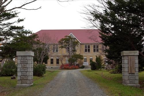 北海道林木育種場旧庁舎出入口