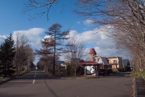 大沢口から見た文京台、喫茶店みき