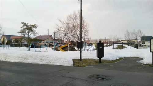 2015年3月の江別の雪