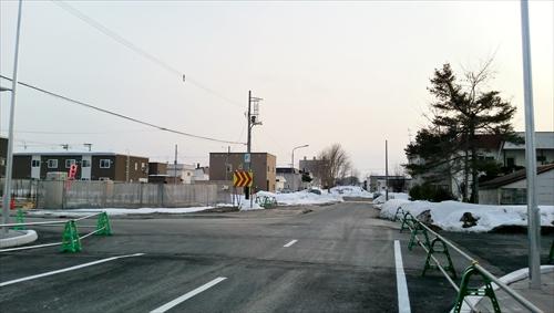 野幌駅南通、西側を見る