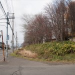 江別小学校脇の線路跡