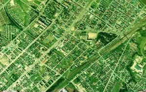 1975年 江別駅周辺航空写真