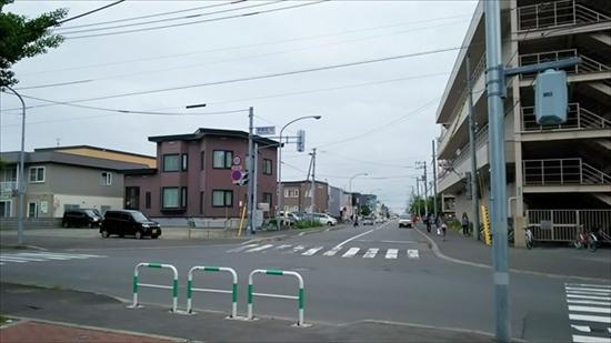 7丁目通り・イオン江別店裏側