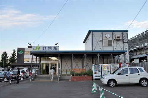 野幌駅北口・仮駅舎