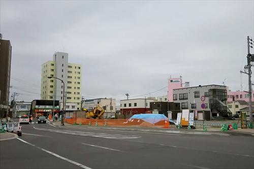 野幌駅北口駅前工事1
