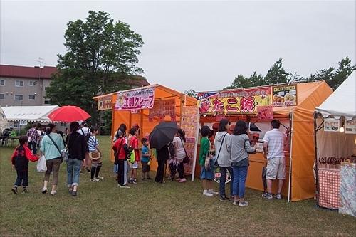 たこ焼き・クレープ(大麻文京台市民夏祭り)