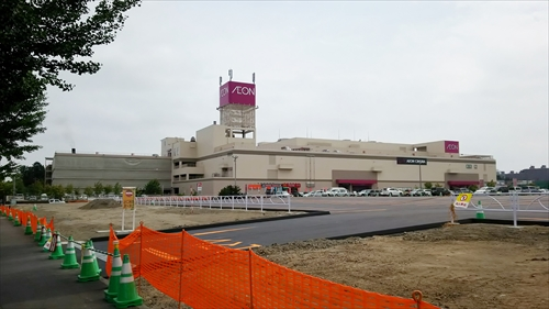 イオン江別店と新駐車場
