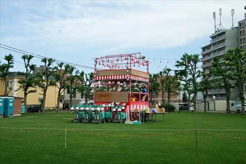 野幌夏祭りの櫓