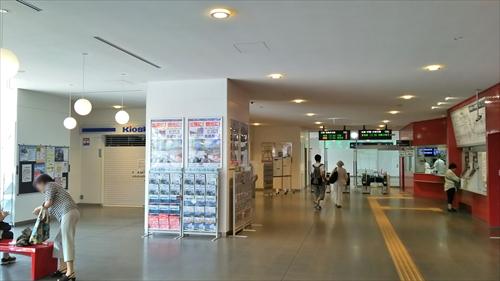 野幌駅・駅舎内改札口・待合室