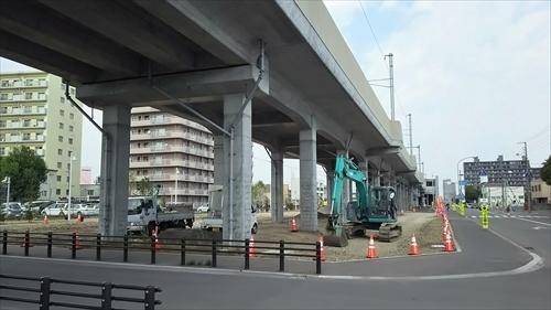 野幌駅西側工事中1
