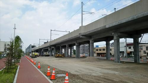 野幌駅西側工事中2