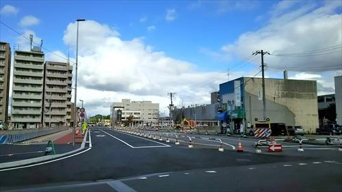 交差点の工事完了