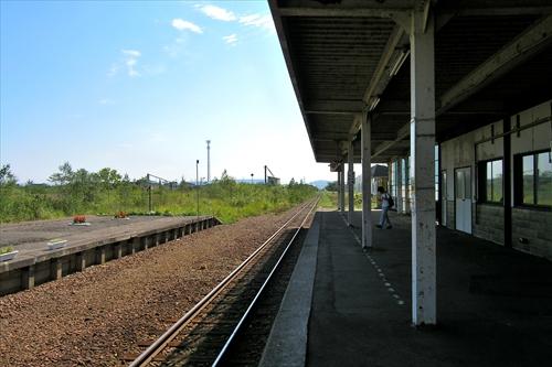 石狩沼田駅ホーム