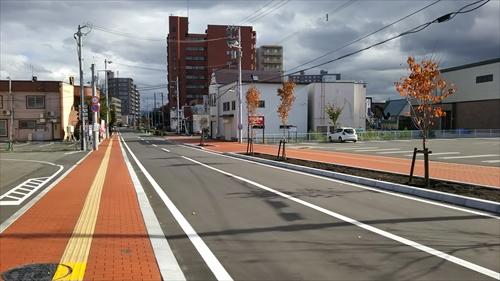 完成した天徳寺グリーンモール道路と歩道