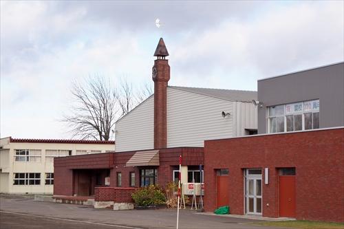 レンガ造りの時計塔