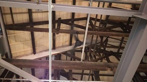 旧ヒダ工場天井の木組み