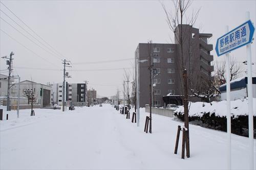 野幌駅南通り(開通後)