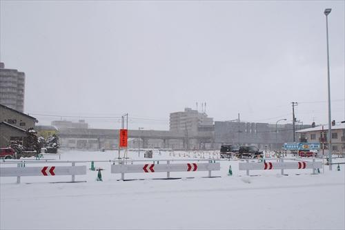 8丁目通り延伸部分と野幌駅