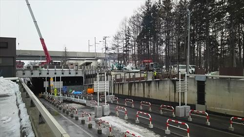 白樺通アンダーパス・片側一車線