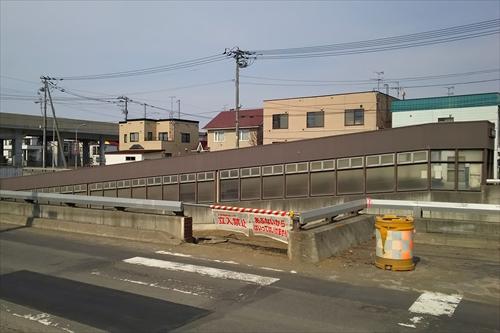 白樺通アンダーパス南側地下通路跡