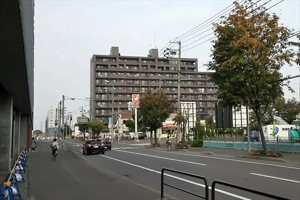 野幌駅南口駅前交差点2016年9月