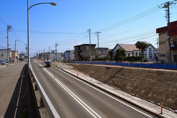 白樺通アンダーパス南側工事状況2