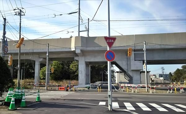 白樺通仮道路・札幌方面