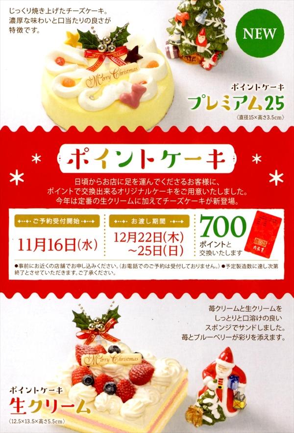 六花亭クリスマス・ポイントケーキ