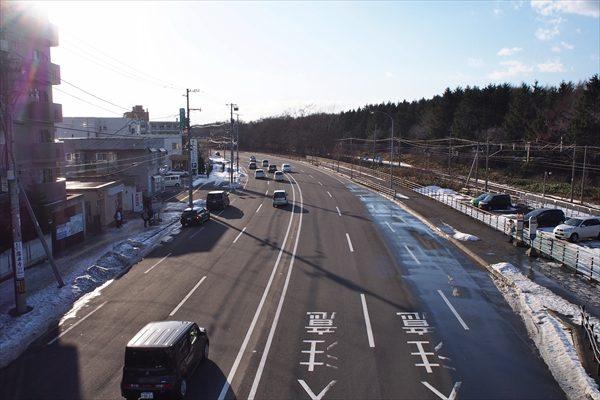 大麻駅南口駅前・国道12号線・札幌方面