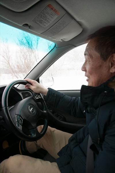 雪上ドリフト主催者・千葉さん