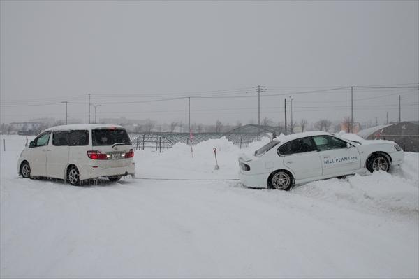 ドリフト車救出
