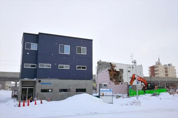 エビカフェkokomoca旧店舗取り壊し