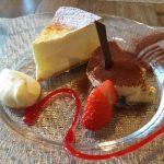 チーズケーキとアフタヌーンケーキセット