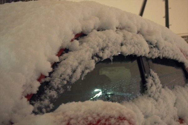 車の積雪量