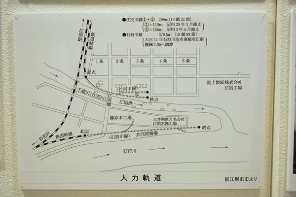 江別市・人力軌道・地図