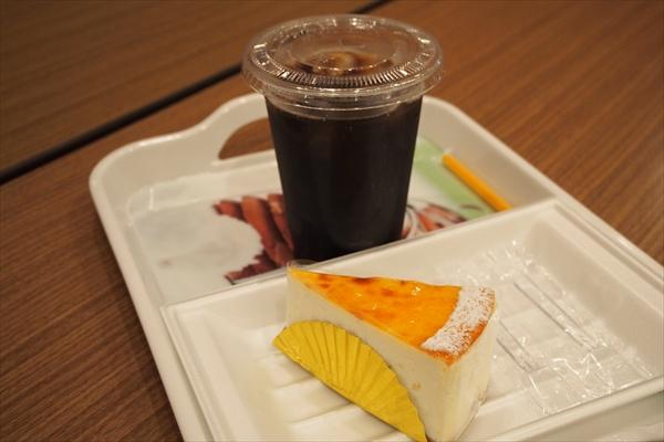 モルフォのケーキと京極アイスコーヒー