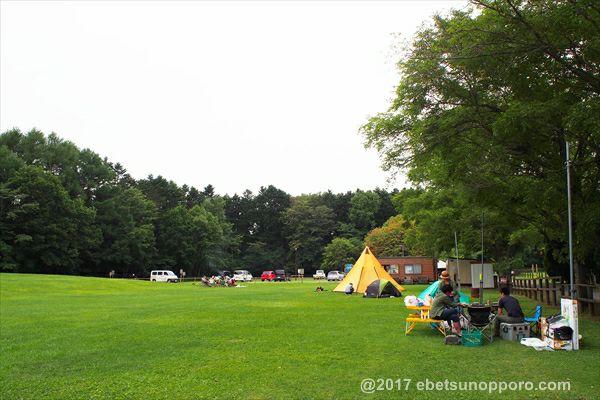 江別市森林キャンプ場の風景