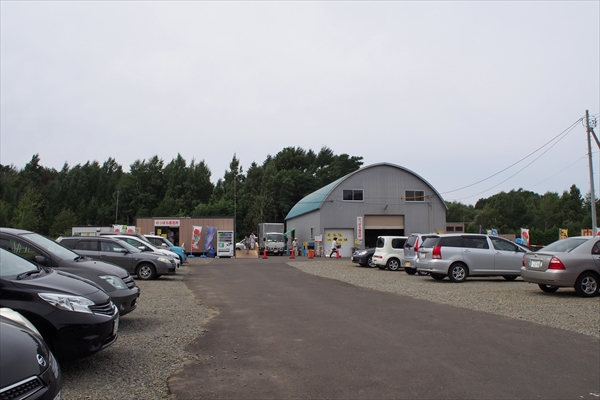 野幌野菜直売所・仮店舗駐車場
