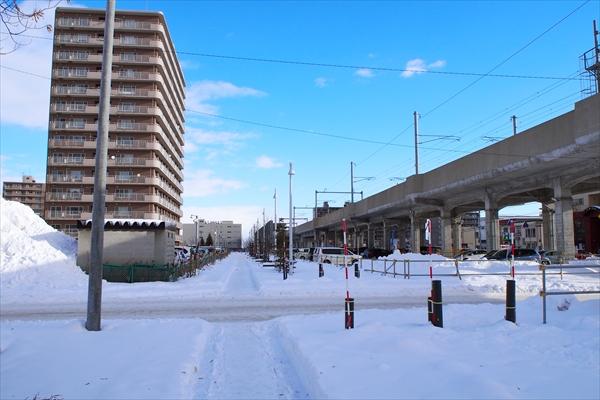 東西グリーンモールJR野幌駅方向