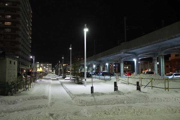 東西グリーンモール野幌駅方向(夜)