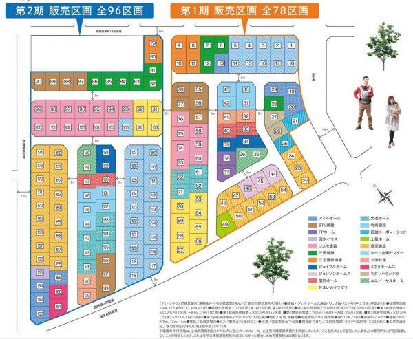 グリーンタウン野幌若葉町販売区画マップ
