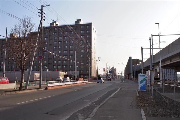 鉄東線と旭通の交差点