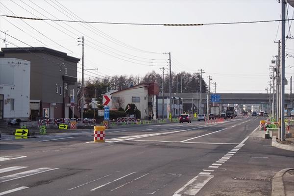白樺通アンダーパス平面化工事4車線化完了