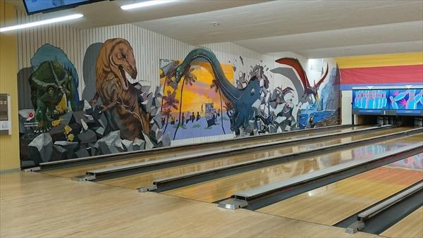 ボウリング場・壁画