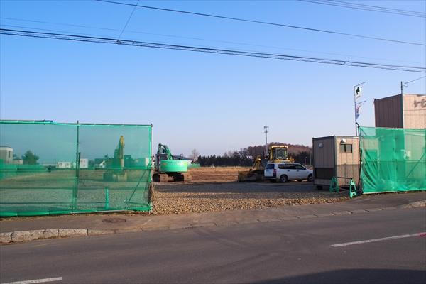 グリーンタウン野幌若葉町・工事現場