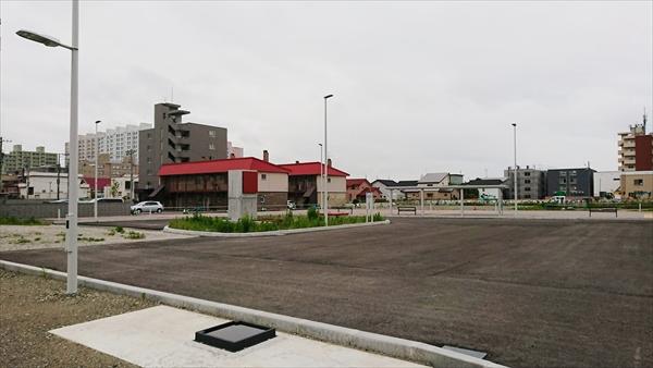 野幌駅南口ロータリー工事中