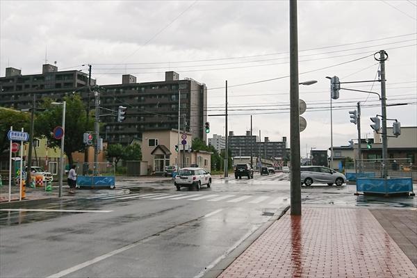 野幌駅南通と1号線交差点