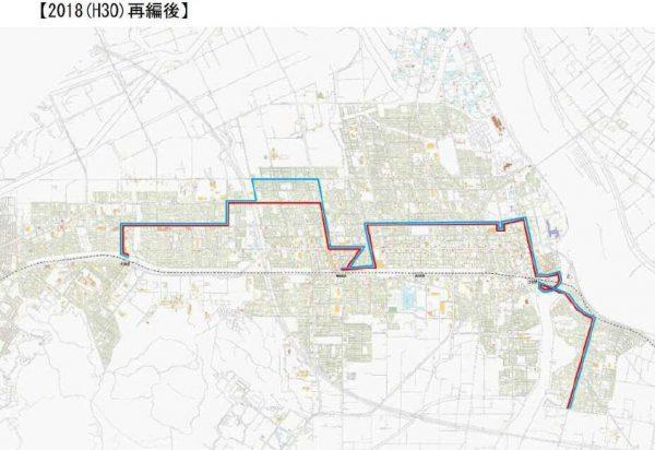 江別2番通線(経路変更後)