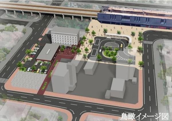 ホテル・交流センター鳥瞰イメージ