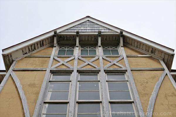 北海道林木育種場旧庁舎・正面上部